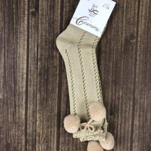 calcetin bolas camel